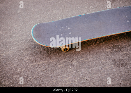 Skateboard in the streets of Deep Ellum. Dallas, Texas. - Stock Photo