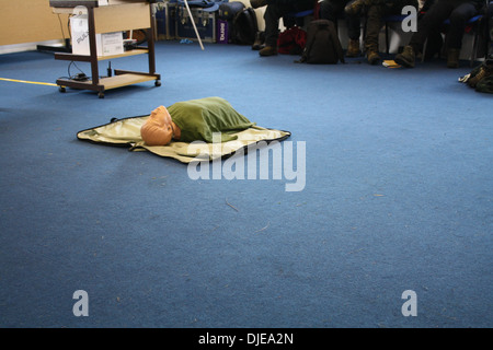 First Aid Course, CPR Training - Stock Photo