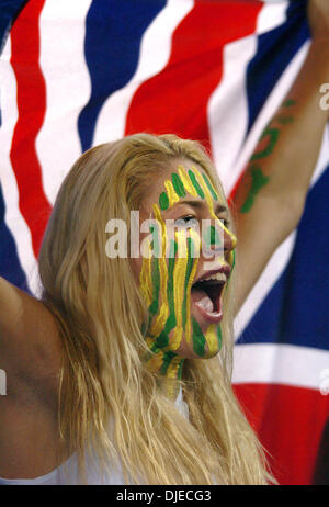 Aug 19, 2004; Athens, GREECE; Seattle Storm player and Australian Olympic basketball women's team member LAUREN - Stock Photo
