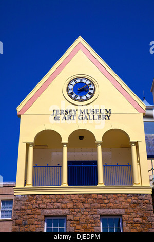 Jersey Museum and Art Gallery, St. Helier, Jersey, Channel Islands - Stock Photo