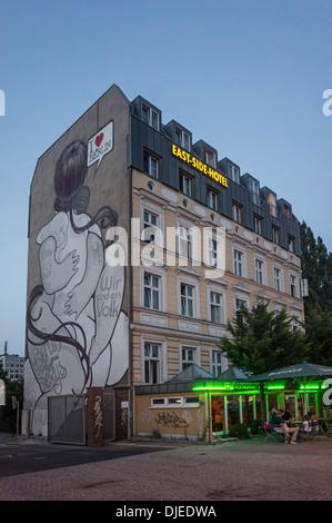 East Side Hotel in Friedrichshain near Berlin Wall, East side Gallery, Berlin, Germany