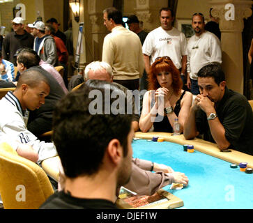 Sep 19, 2004; Atlantic City, NJ, USA; PHIL IVEY (left), LOUISE FRANCOEUR (2nd from right), and JOSH ARIEH (right) - Stock Photo