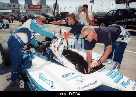 Jul 25, 2004 - Vancouver, British Columbia, Canada - Photograph of members of racing crew taken at 2004 Molson Indy - Stock Photo