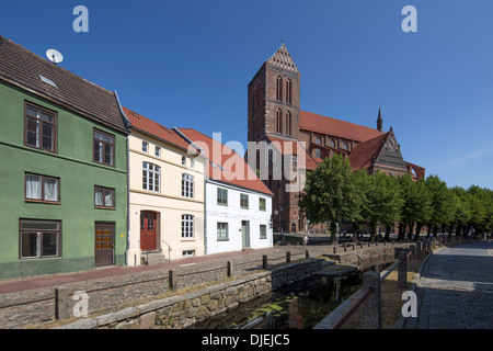 Nikolai church in Wismar, Mecklenburg Vorpommern, Germany - Stock Photo