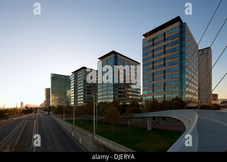The residential Towers at Diagonal Mar, Barcelona, Spain - Stock Photo