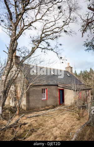 Derelict cottage in the Cabrach in Moray, Scotland. - Stock Photo