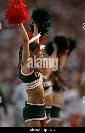 Oct 20, 2007 - Tallahassee, Florida, USA - A Hurricanes cheerleader. (Credit Image: © Allen Eyestone/Palm Beach - Stock Photo