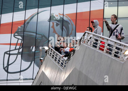 Oct 28, 2007 - London, England, UK - American football fans line the steps into Wembley Stadium to take in the view - Stock Photo