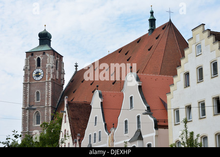The cathedral of Ingolstadt (Liebfrauenmuenster) - Stock Photo