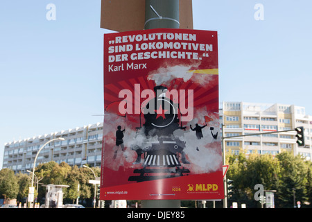 election poster in Berlin - Stock Photo