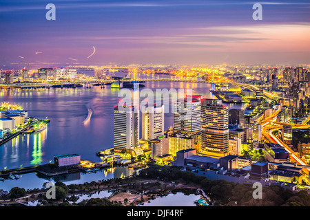 View of Tokyo, Japan over Tokyo Bay. - Stock Photo