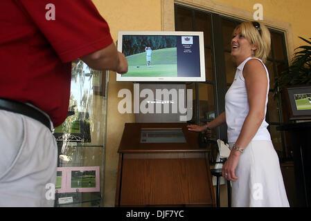 Feb 01, 2008 - Boca Raton, Florida, USA - Toby Harding, is COO of Teepix, a service that takes photos of golfers - Stock Photo