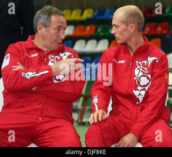 Feb 07, 2008 - Moscow, Russia - Russia hosts Davis Cup 2008 in Moscow. Russia will play vs Serbia. PICTURED: Russian - Stock Photo