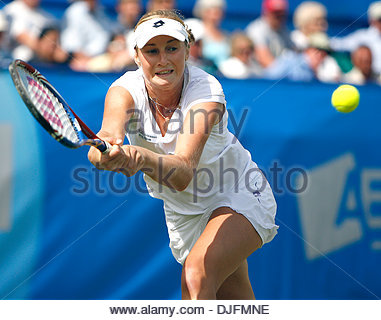 Ekaterina Makarova of Russia plays a shot..Aegon International Eastbourne..Svetlana Kuznetsova v Ekaterina Makarova..17th - Stock Photo