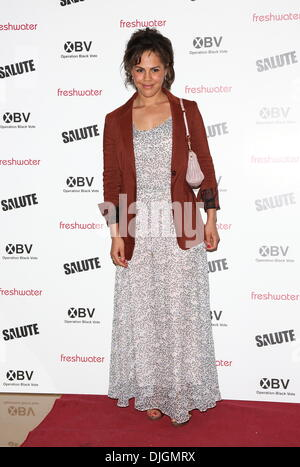 Lenora Crichlow Salute UK film premiere held at the May Fair hotel London, England - 11.07.12 - Stock Photo