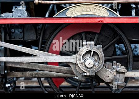 Steam locomotive wheels assembly - Stock Photo