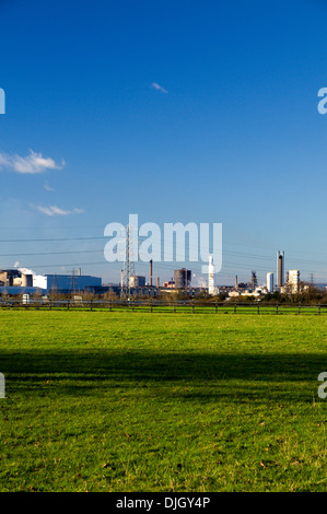 Port Talbot Steel Works, South Wales. - Stock Photo