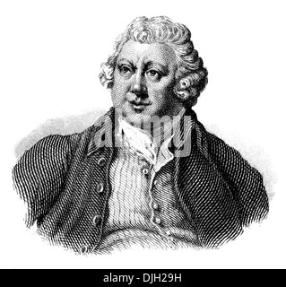Portrait of Sir Richard Arkwright, 1732 - 1792, a leading entrepreneur during the early Industrial Revolution, - Stock Photo