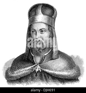 Portrait of Charles IV, 1316 - 1378, king of Bohemia from the House of Luxembourg, Holy Roman Emperor, - Stock Photo