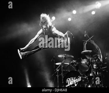 Justin Hawkins The Darkness live at Thebarton Theatre Adelaide, Australia - 17-05-12 , - Stock Photo
