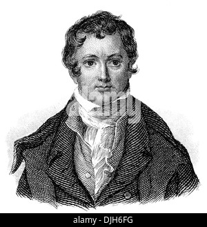 Portrait of Sir Humphry Davy, 1778 - 1829, an English chemist and inventor - Stock Photo