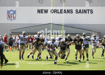 July 31, 2010 - New Orleans, Louisiana, United States of America - 31 July 2010: The New Orleans Saints scrimmage - Stock Photo
