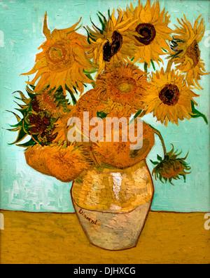 Sunflowers 1888 Vincent van Gogh 1853–1890 Dutch Netherlands - Stock Photo