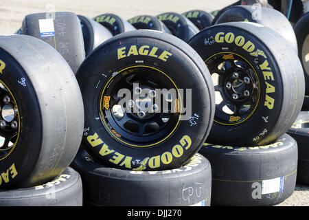 goodyear racing tires wait outside of the tire shop for. Black Bedroom Furniture Sets. Home Design Ideas