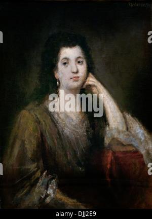 Russian Princess 1863 Franz von Lenbach 1836-1904 German Germany Museum Painting - Stock Photo