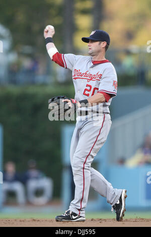 Aug. 07, 2010 - Los Angeles, California, United States of America - 7 August 2010: Nationals 2B (#20) ADAM KENNEDY - Stock Photo