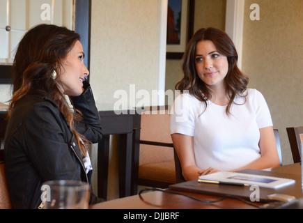 Jordana Brewster and Julie Gonzalo TNT's Dallas Press Junket at Four Seasons hotel Philadelphia Pennsylvania - 04.05.12 - Stock Photo