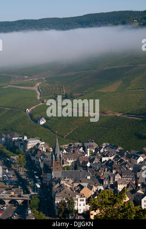 Bernkastel-Kues, A Wine Region In Mosel Valley; Rhineland-Palatinate, Germany - Stock Photo