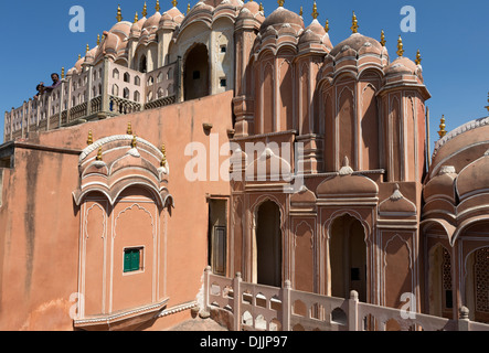 City Palace. In one part of the Chandra Mahal palace now is a museum but most of the castle is still a royal residence. - Stock Photo