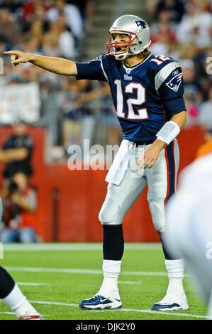 Aug. 26, 2010 - Foxborough, Massachusetts, United States of America - New England Patriots' QB TOM BRADY (12) points - Stock Photo