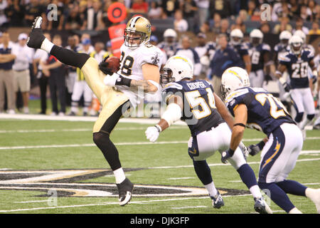 Aug 21, 2010: New Orleans Saints tight end Jeremy Shockey (88) catches a pass during the preseason game between - Stock Photo