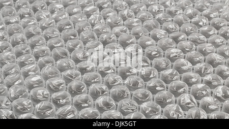 Plastic bubble wrap background often used in packaging fragile items for delivery in the post