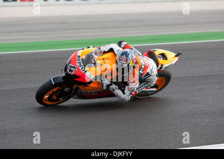 Sep. 05, 2010 - Misano Adriatico, Italy - Honda Repsol rider Andrea Dovizioso (ITA #4)  during the San Marino GP - Stock Photo