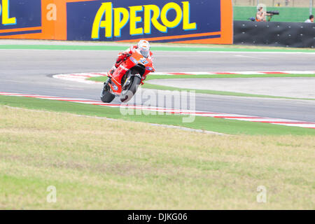Sep. 05, 2010 - Misano Adriatico, Italy - Ducati rider Casey Stoner (AUS #27) defend his 4th place of the San Marino - Stock Photo