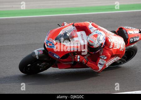 Sep. 05, 2010 - Misano Adriatico, Italy - Ducati rider Casey Stoner (AUS 27)  during the San Marino GP in Misano - Stock Photo