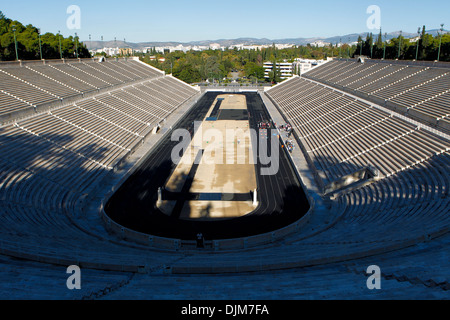 The Pnathenaikon stadium, it was the venue of the first Olympic Games in modern history. The historic center of - Stock Photo