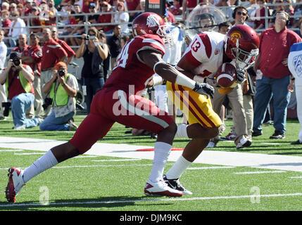 Sept. 25, 2010 - Pullman, Washington, United States of America - Sept 25, 2010:  USC wide receiver Robert Wood, - Stock Photo