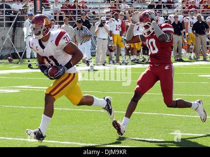 Sept. 25, 2010 - Pullman, Washington, United States of America - USC full back Stanley Havili (31) beats Washington - Stock Photo