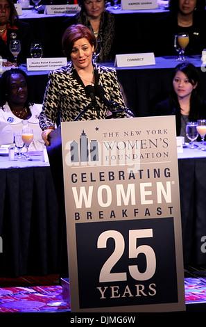 New York City Council Speaker Christine C Quinn 25th Anniversary Celebrating Women Breakfast held at New York Marriott - Stock Photo
