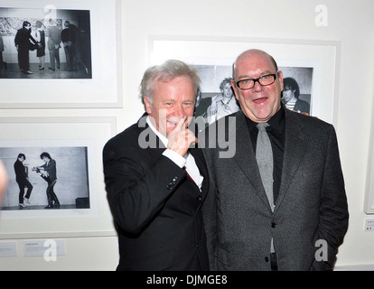 Patrick Brocklebank and U2 manager Paul McGuinness U2 Manager Paul McGuinness officially opened photography exhibition - Stock Photo