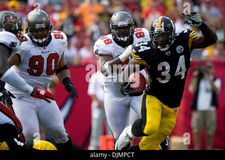 Sep. 26, 2010 - Tampa, Florida, United States of America - Pittsburgh Steelers running back Rashard Mendenhall (34) - Stock Photo