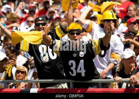 Sep. 26, 2010 - Tampa, Florida, United States of America - Pittsburgh Steelers fanatics cheering their team on against - Stock Photo