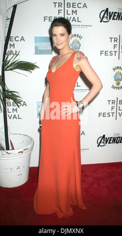 Cobie Smulders Marvel's ' Avengers' premiere during closing night of 2012 Tribeca Film Festival at BMCC Tribeca - Stock Photo