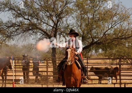 The Roundup & Open House, a celebration of the cowboy, at the Empire Ranch, Sonoita, Arizona, USA. - Stock Photo