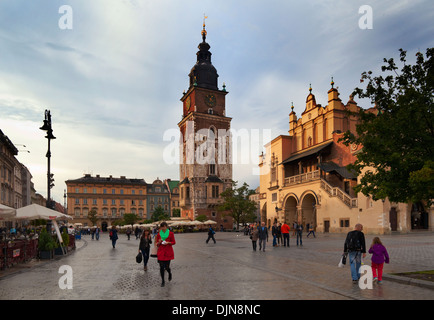 Sukiennice, The Renaisssance Cloth Hall, Rynek Glowny The Main Market Square, Old Town, Krakow, Poland - Stock Photo