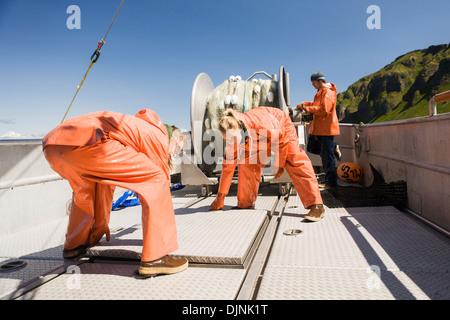 Salmon Fishing In The Alaska Department Of Fish And Game 'alaska Peninsula Area' - Stock Photo